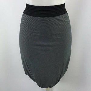 T Alexander Wang Grey Stripe Skirt Size Large